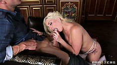 Britney Amber, a stunning blonde has needs and desires that need attention