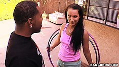 This is Sabrina Sweet, a teen with a sexy body and a passion for black dick