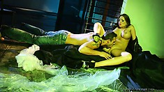 Nika Noir gets seductively seduced and licked by the hunky Rocco Reed