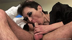 Young dudes are getting handled by some mature ladies banging them