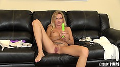 Sultry blonde with huge boobs Brooke Tyler repeats that fantastic performance