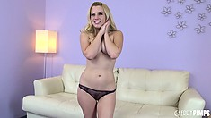 Stunning blonde Lexi Belle embarks on a solo adventure to find pure pleasure