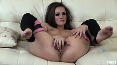 Well-knit kitty Tori Black will astonish anyone with her skills