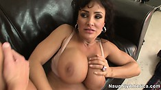 Her deep sighs of pleasure only instill him to fuck her cunt harder and faster
