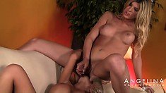 Angelina Torresfucks her from behind rubbing both sets of tits