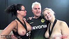 Sara Vandella, Tory Lane and Casey Stone do some posing and showing tit