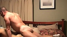 Married man goes to a hotel to be fucked by a hung gay stallion