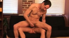 Kinky male lovers indulge in their first assfucking experience