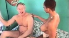 Kitten is all about interracial fucking and swallows a white cock