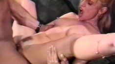 Arden West pulls this babe's legs apart and drills her tight snatch