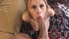 A busty blonde can't get enough of this guy's cock up her butt