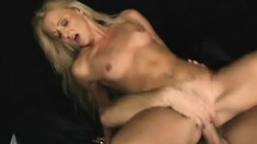 Precious young blonde Edina has a hung dude stretching her anal hole