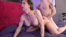 She's a cougar who likes to accommodate her younger lover's needs