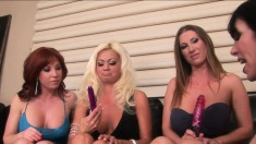 Four lustful cougars fulfill each other's sexual desires with sex toys