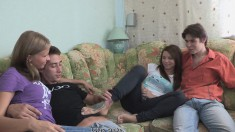Adventurous teens get together with another couple for some fun
