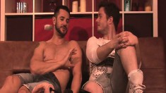 Lusty hot gay stallions enjoy themselves by drilling some ass