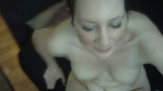 Naughty Kitten sucks Tegan's cock and moans while riding it hard