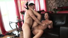 Wonderful Asian beauty with a perky ass Miko Sinz rides a hard stick