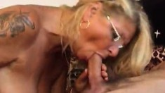 Mature couple Vitas and Rina do the dirty while they make a porno