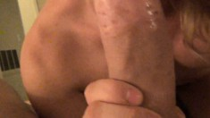 Lustful tranny blows a long pole and indulges in anal sex POV style