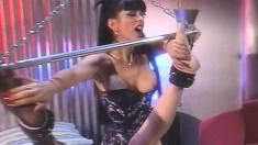 Ravishing blonde cougar with big boobs Nikki explores her foot fetish