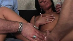 Gorgeous brunette amateur takes a dick up her ass for the first time