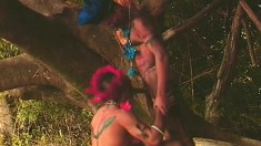 Tribal studs bringing their gay fantasies to reality in the outdoors