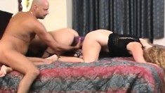 Bi babes love pussy as much as cock and get wild in a foursome