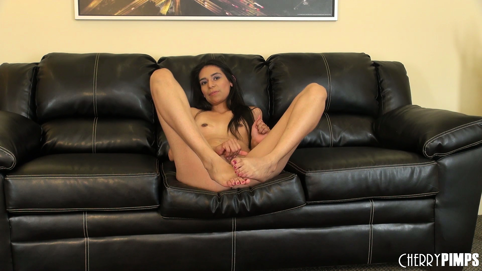 Sex on leather couch