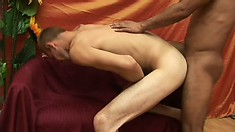 Skinny cocksucker loves to have his boyfriend banging his ass bareback