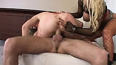 Hot-assed muff and her friend with beautiful ass get massive slamming up their cunnies