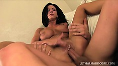 Stunning mom with fabulous tits and ass Jessica Chase is horny as hell