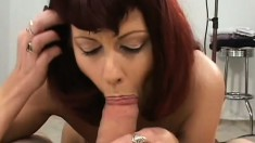 Experienced MILF brings two boys home to show them what a woman can do