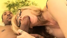 Desperate blonde lady can't wait to take this meat inside her