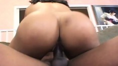Yellow bone ebony hottie with a great ass gets pounded by a thug