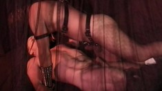 Leather clad men indulge in some rough anal action down in the dungeon