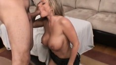 Kristal Summers, a busty blonde milf with a perfect ass, gets her pussy drilled hard