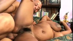 Ebony hottie Lola Lane gets her juicy holes licked, fingered and fucked