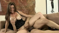 Wild mom with big tits Racquel Devine has an affair with a younger guy