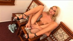 Bambi gets turned on and uses a sexy toy to get satisfaction