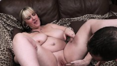 Big girl with huge tits gets her world rocked by his pounding cock