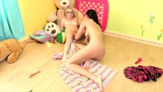 Kiera Daniels has a great time licking her girlfriend's pussy