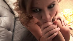 Insatiable young chick can't wait to taste a monumental piston