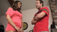 Bodacious young nympho Carmen bounces on a long prick with excitement