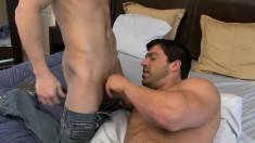 Cock-loving buck begs a hot fucker to nail his tight butthole