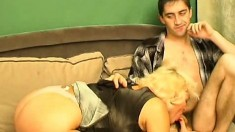 Blonde Busty Pamela Blond Jerking Off A Big Dick