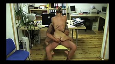 Blonde European MILF sucks and fucks