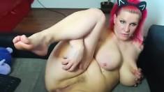 Mature Bbw Solo Posing On Webcam