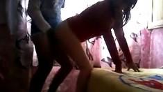 Horny amateur couple fucks on cam