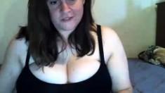 Delicious fat boobs riding